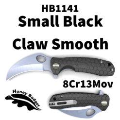 HB1141 Honey Badger Claw Flipper Small Black Plain 8Cr13MoV