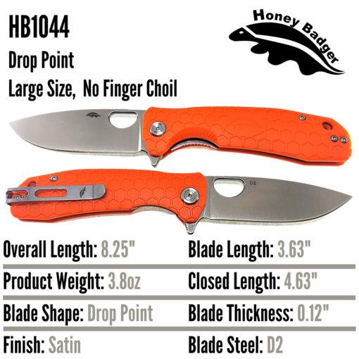 Honey Badger Knives EDC Pocket Knife HB1044 Western Active